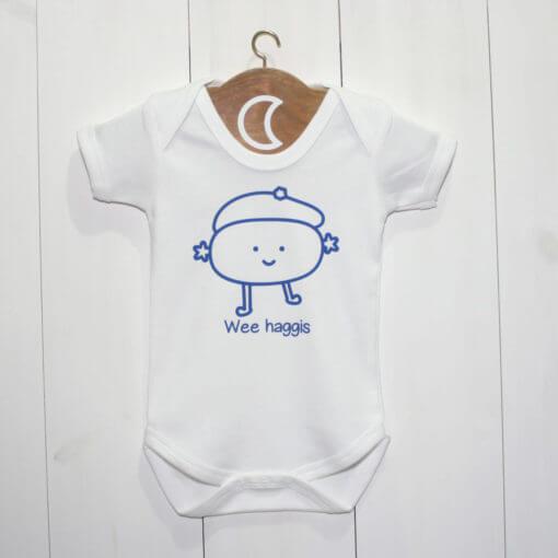Haggis Baby Grow Blue