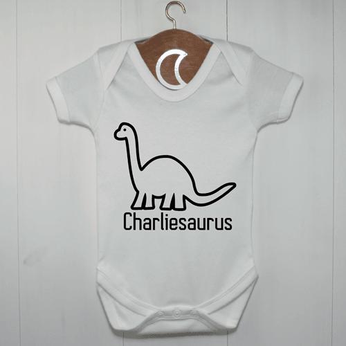 Brontosaurus Baby Grow | Personalised Dinosaur Baby Gifts