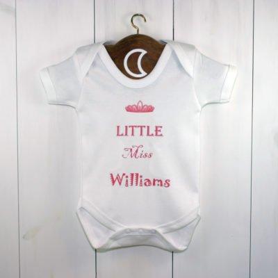 custom printed baby grow