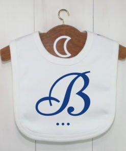 Blue Monogram Baby Bib
