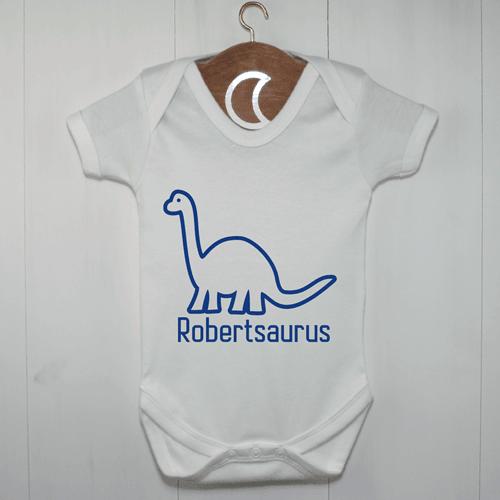 Brontosaurus Baby Grow | Personalised Dinosaur Baby Gift