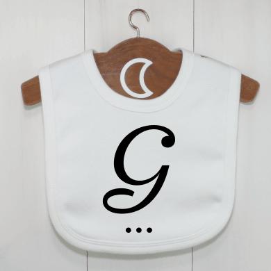 monogram-baby-bib-g