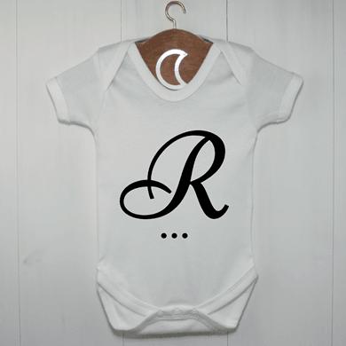 R Monogram Baby Grow UK