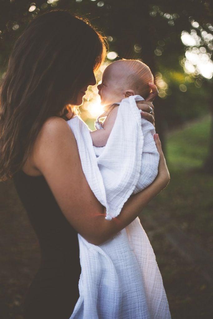 Breastfeeding Mummy And Baby Happy