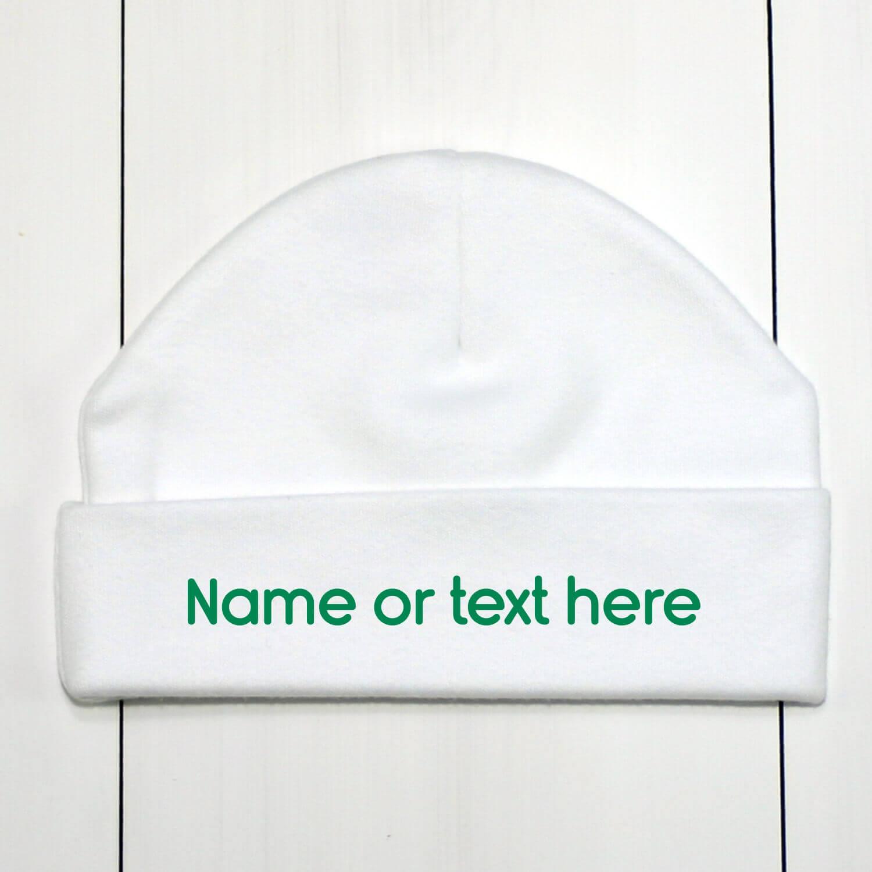 Custom Baby Beanie Hat Green