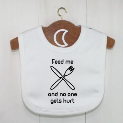 Feed Me Baby Bib | Funny Dribble Bib