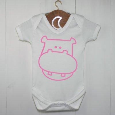 Hippopotamus Baby Grow Pink
