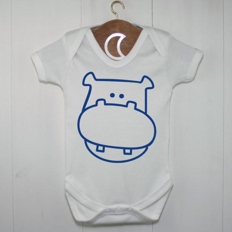 Hippopotamus Baby Grow Royal Blue