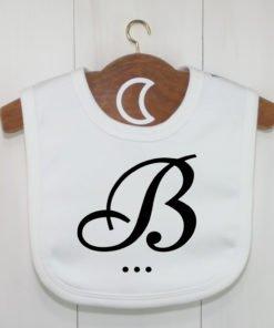 Monogram Baby Bib B