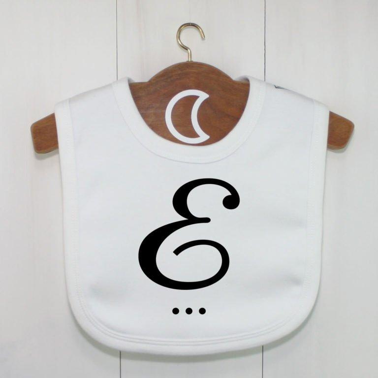 Monogram Baby Bib E