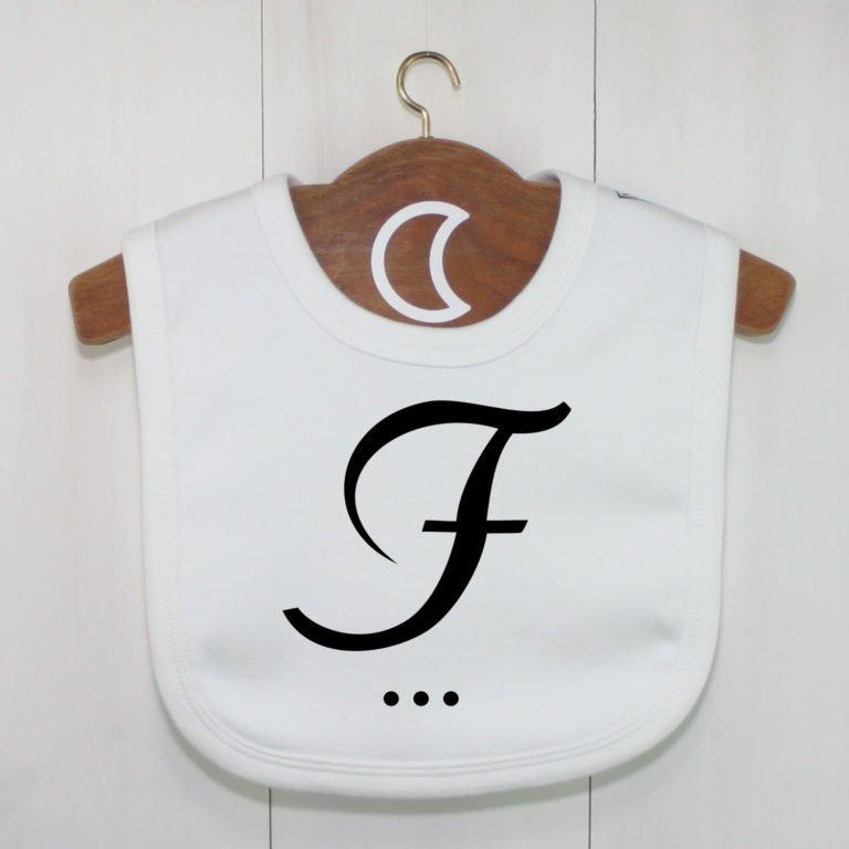 Monogram Baby Bib F
