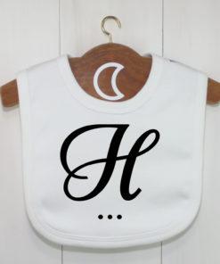 Monogram Baby Bib H