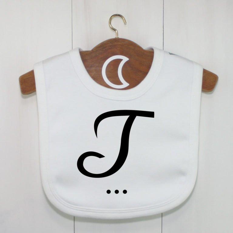 Monogram Baby Bib J