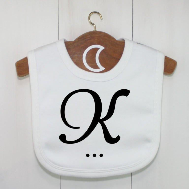 Monogram Baby Bib K