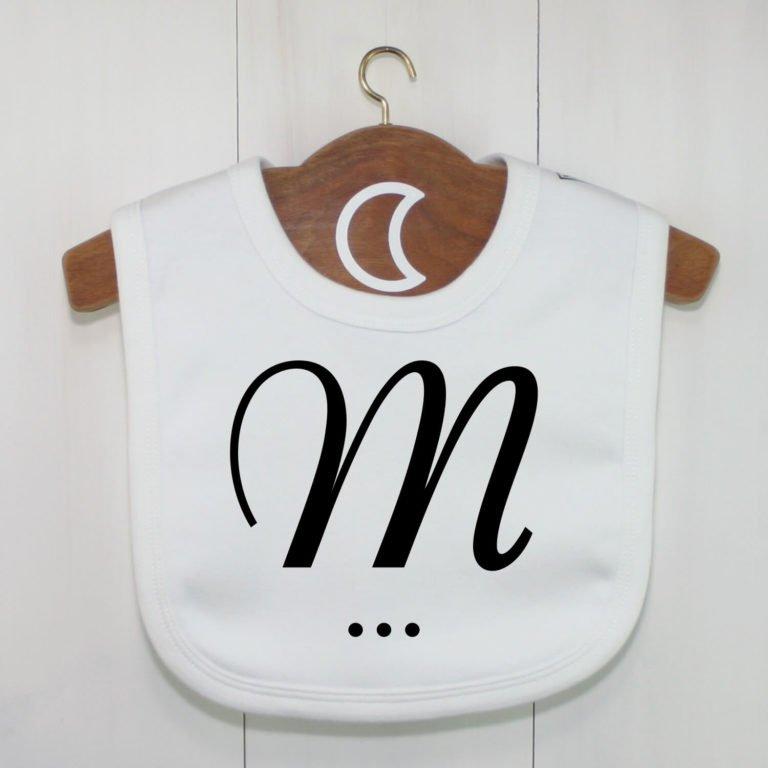 Monogram Baby Bib M