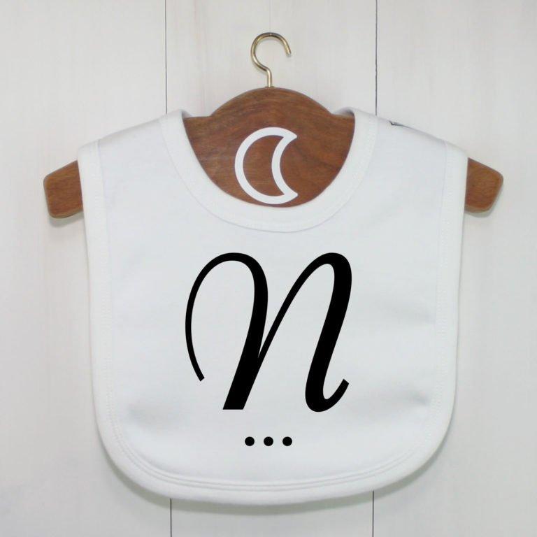 Monogram Baby Bib N