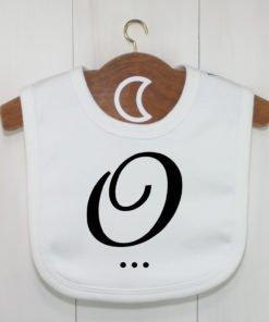 Monogram Baby Bib O