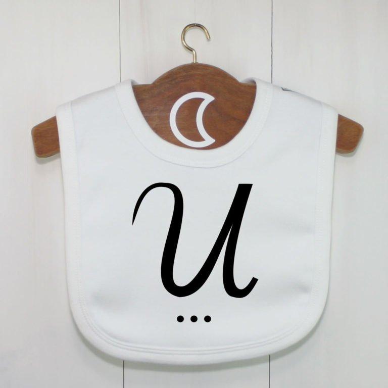 Monogram Baby Bib U