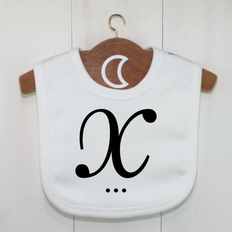 Monogram Baby Bib X
