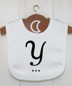 Monogram Baby Bib Y