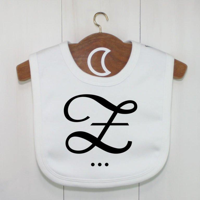 Monogram Baby Bib Z
