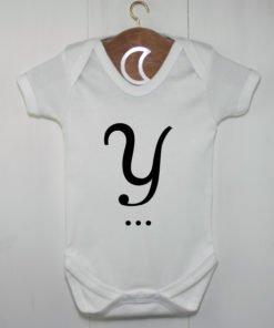 Monogram Baby Grow Y