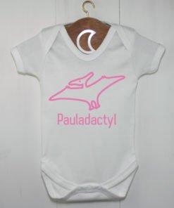 Pterodactyl Baby Grow Pink