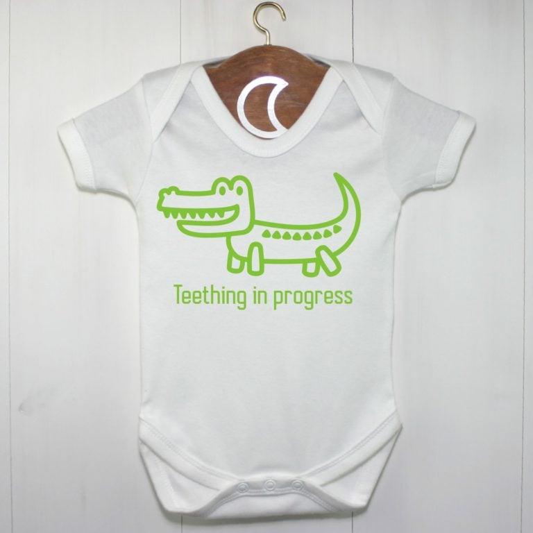 Crocodile Baby Grow Green