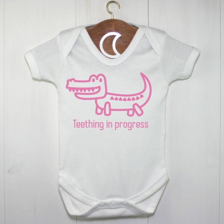 Crocodile Baby Grow Girls Pink