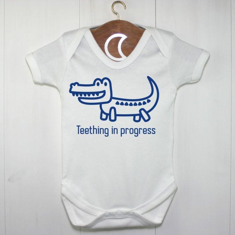 Crocodile Baby Grow Boys Blue