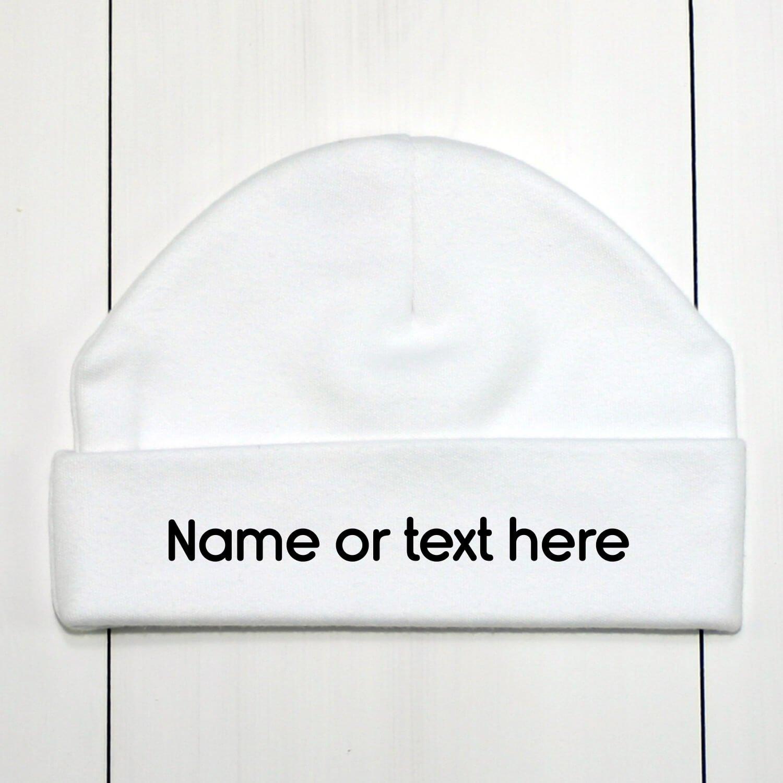 Custom Baby Beanie Hat   Personalised Infant Hats