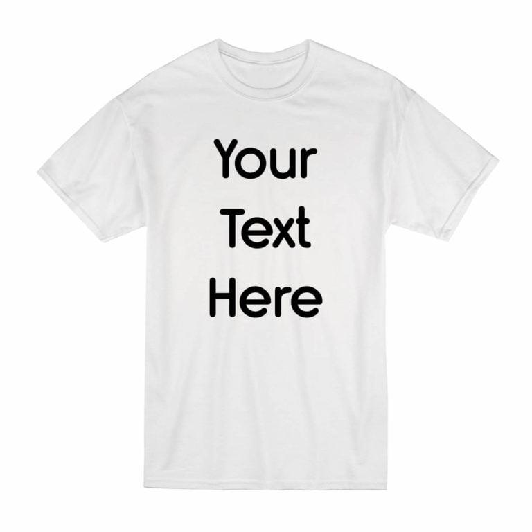 Write Your Text On A T-Shirt Black   Name On T-Shirt UK  Bulk T-Shirts Printed