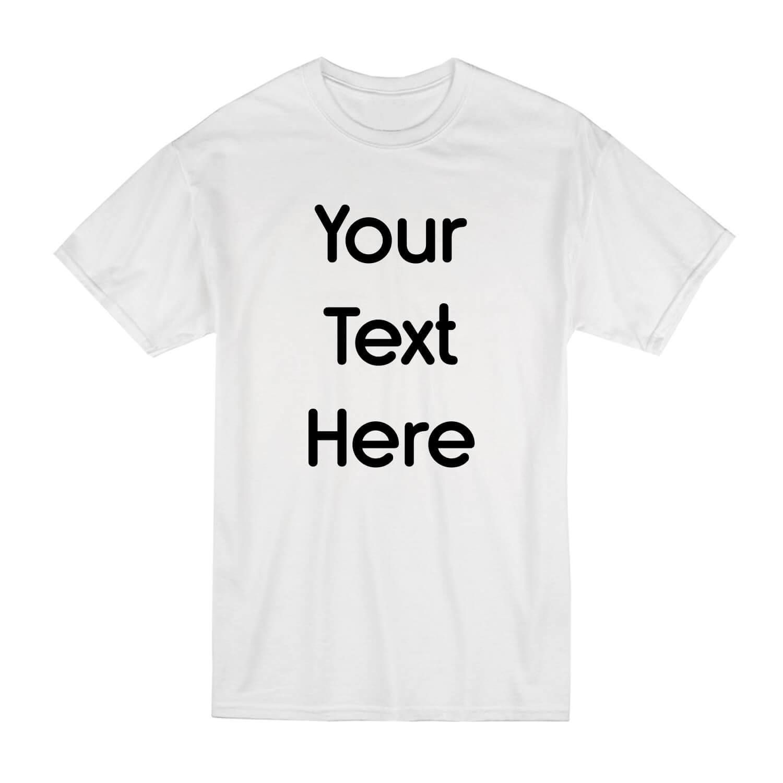 Write Your Text On A T-Shirt Black | Name On T-Shirt UK| Bulk T-Shirts Printed