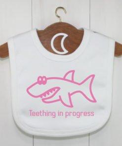 Shark Baby Bib Pink
