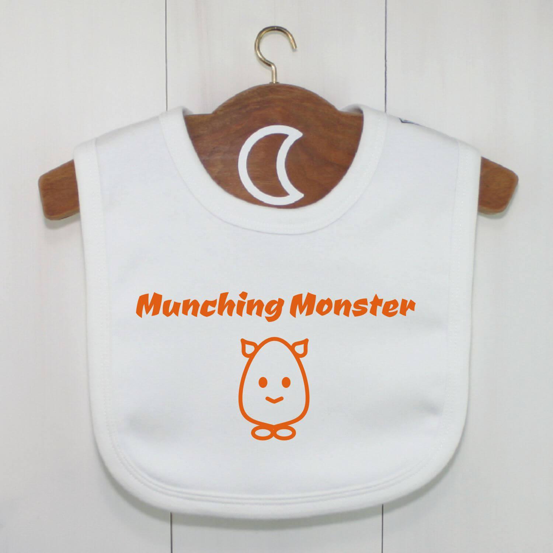 Munching Monster Baby Bib Orange