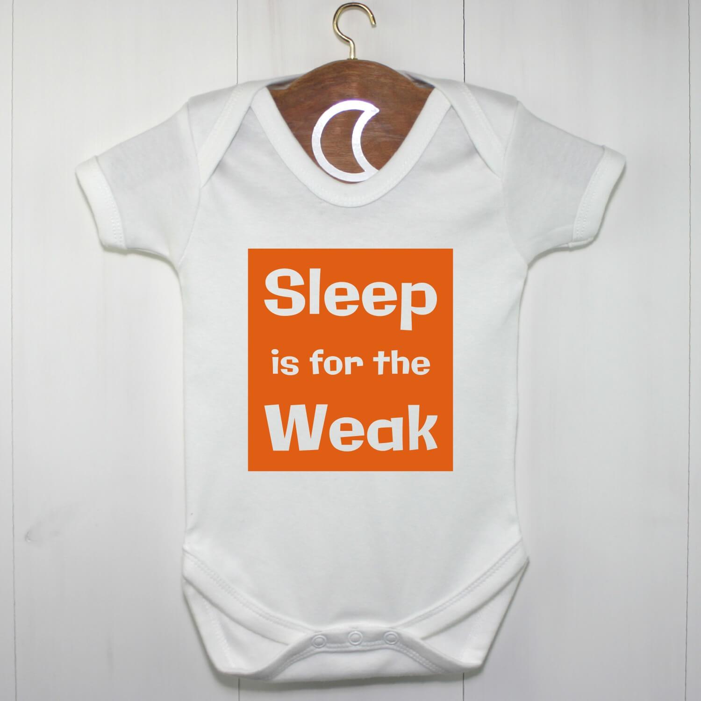 Sleep is for the Weak Baby Grow Orange