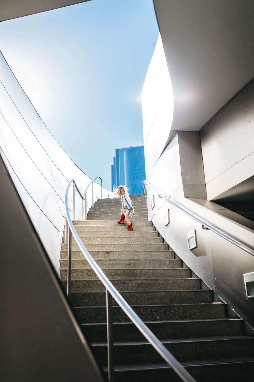 Pregnancy Climbing Stairs Sideways