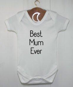 Best Mum Ever Baby Grow Black