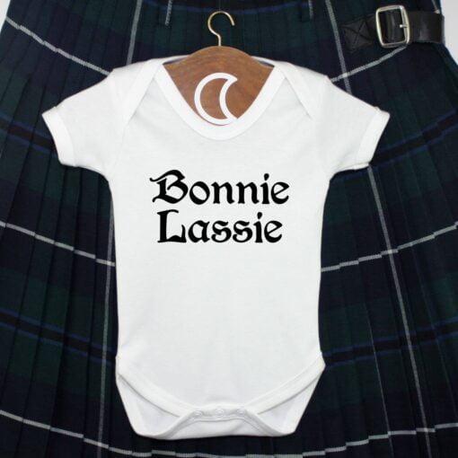 Bonnie Lassie Black Baby Grow