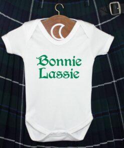 Bonnie Lassie Green Baby Grow