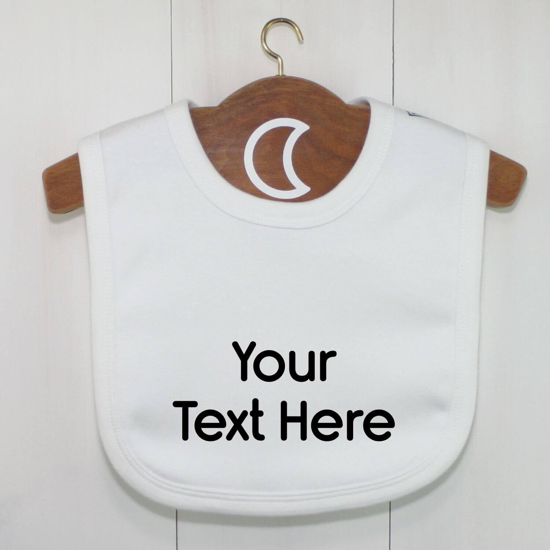 Custom Baby Bib Back Text