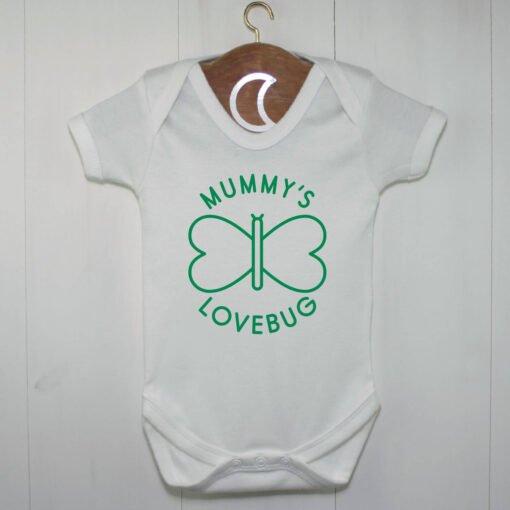 Mummys Lovebug Baby Grow Green