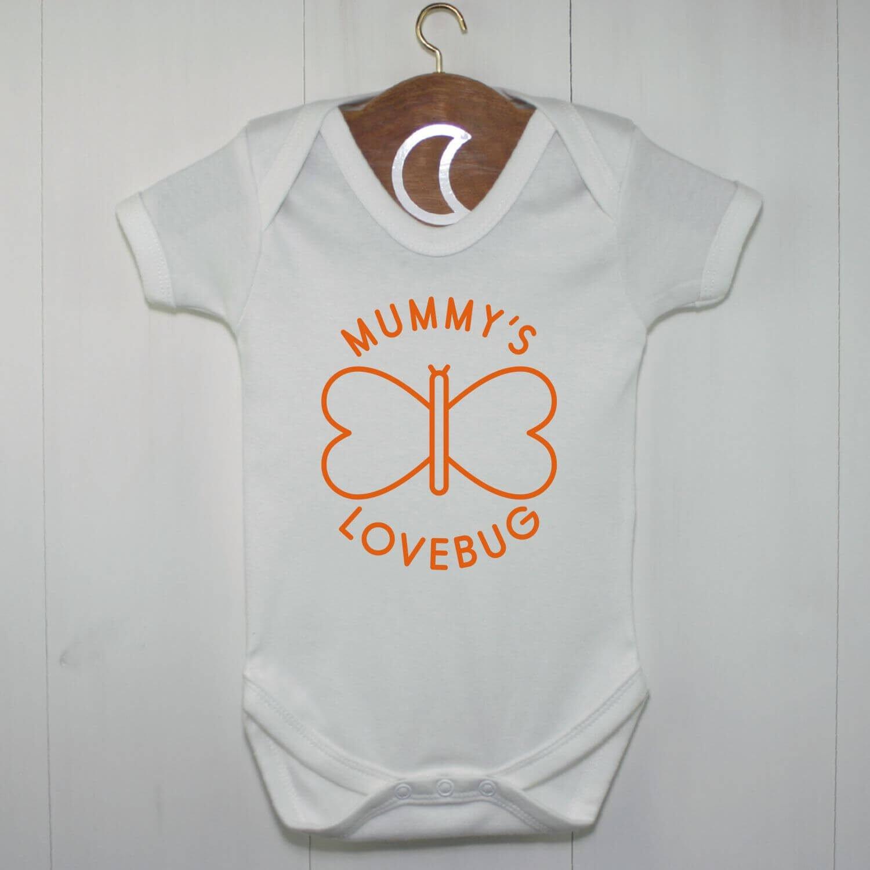Mummys Lovebug Baby Grow Orange