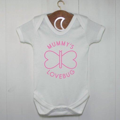 Mummys Lovebug Baby Grow Pink
