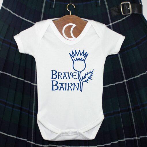 Thistle Baby Grow Royal Blue